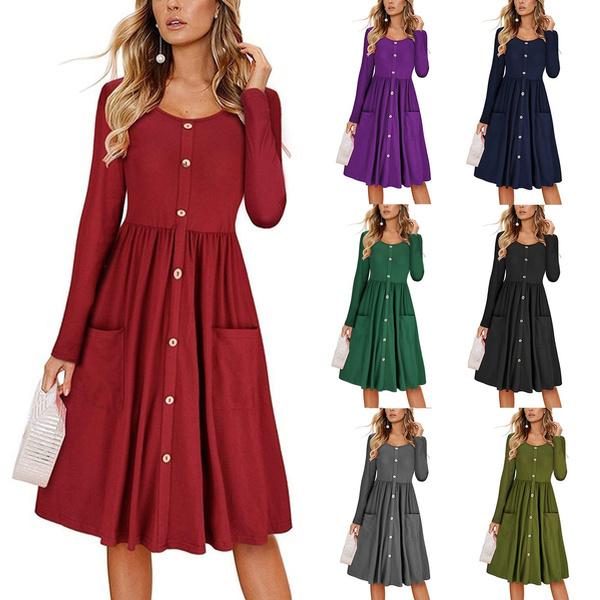 Vestiti Eleganti Wish.Women Embroidery Dress Long Sleeve Dress Tshirt Dress Vestiti