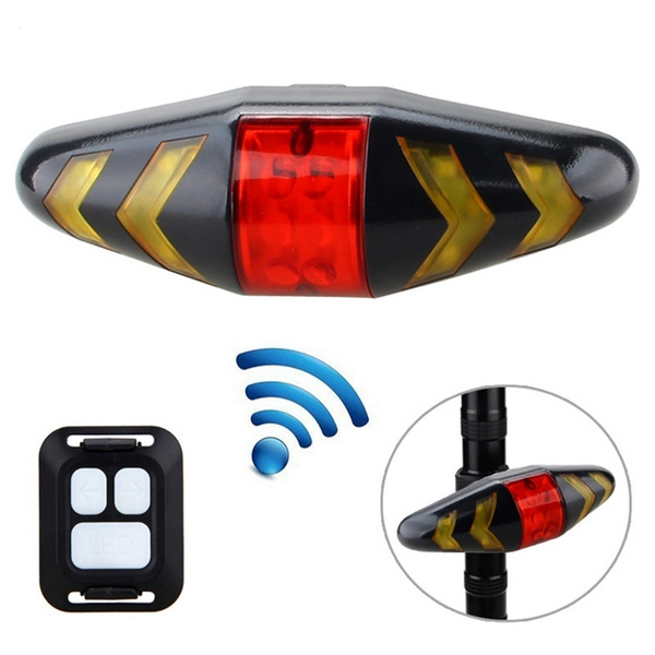 Smart Remote Control Bike Lamp Wireless Rear Light Bicycle Seat Mount Led Warning Taillight Turning Control Signal Tail Lamp Sports & Entertainment Bicycle Accessories
