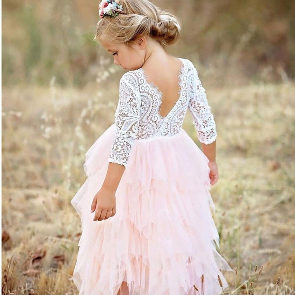 Princess, Lace, tulle, Long Sleeve