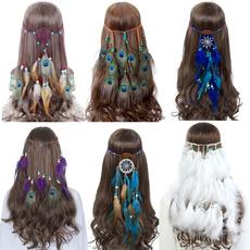 peacock, Fashion, featherheaddres, Dreamcatcher