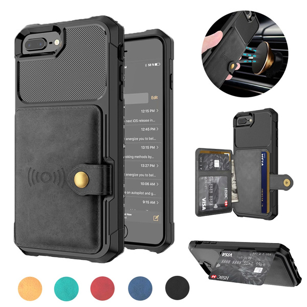 for iPhone6 6s Wallet Case Card Holder Leather Wallet with Flip Cover Shockproof Cover for iPhone 6 Plus 6s Plus