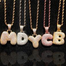 Cubic Zirconia, 주얼리, Chain, unisex