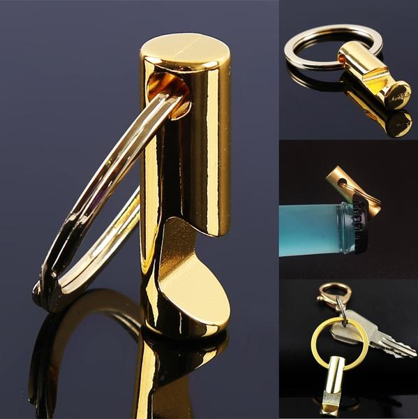 Creative Bottle Opener Keychain Key Metal Beer Openers Kitchen Drink Bar Tool TO