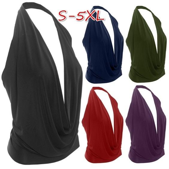 Fashion, Cotton T Shirt, tunic top, Halter