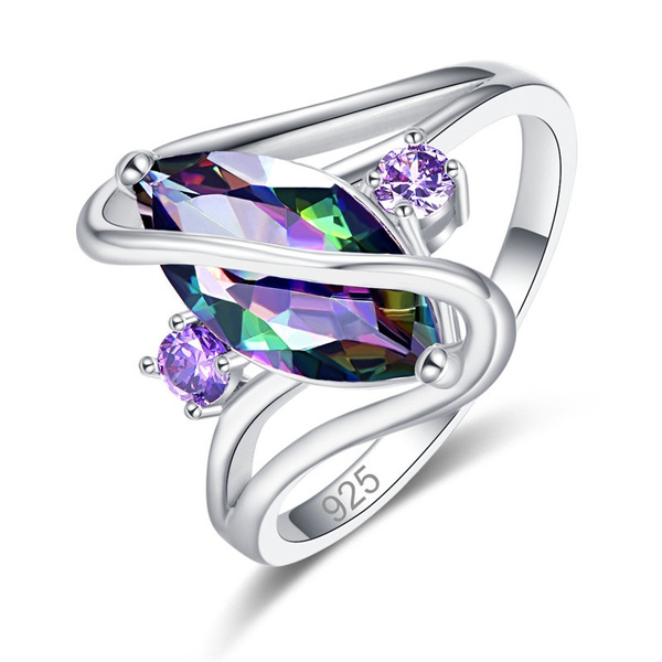 quartz, 925 silver rings, marquise, sterling silver