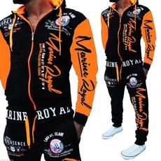 hoodiepants2piecesetsweatsuit, Fashion, letter print, Fitness