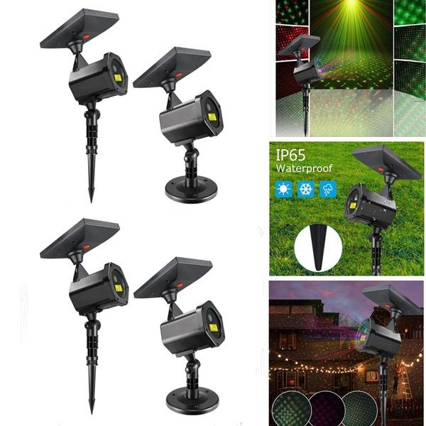 Solar Powered LED Outdoor Garden Christmas Starshower Projector Light Flash