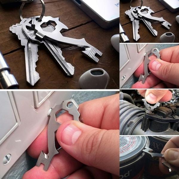 Steel, Multifunctional tool, Outdoor, Key Chain