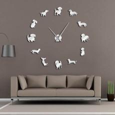 wienerdog, art, puppy, Clock