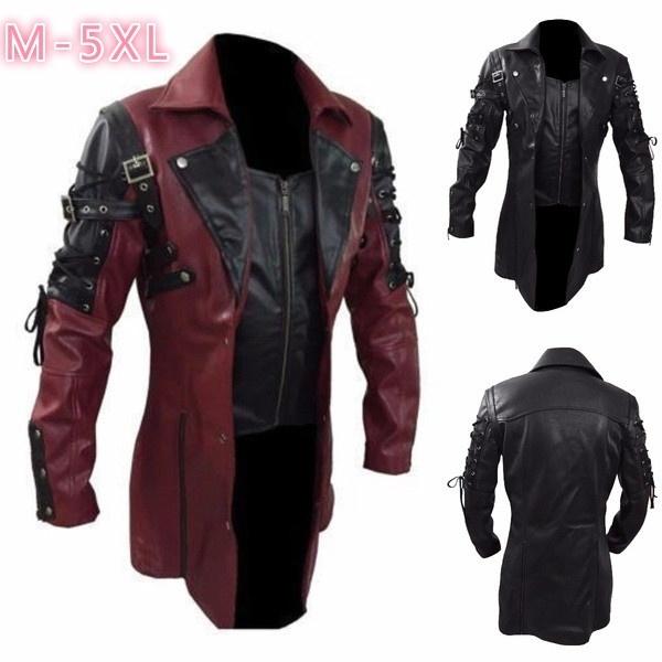bikerjacket, Fashion, punk style, Long Sleeve
