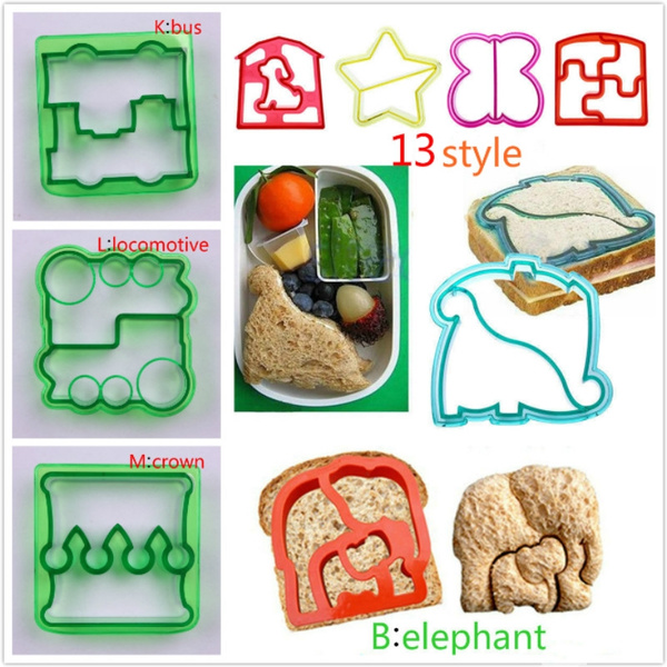 DIY Kids Sandwich Toast Cookies Cake Bread Biscuit Food Cutter Mould Mold J