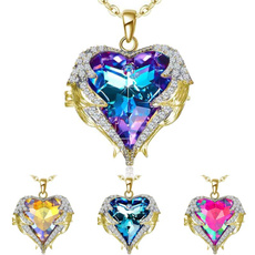Heart, necklacewing, Angel, angelwingsnecklace
