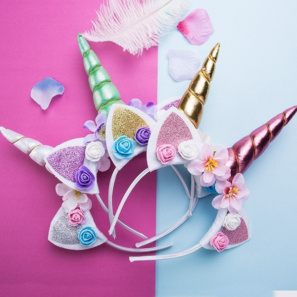 Decorative Magical Unicorn Horn Head Party Kids Adult Headband Fancy Dress