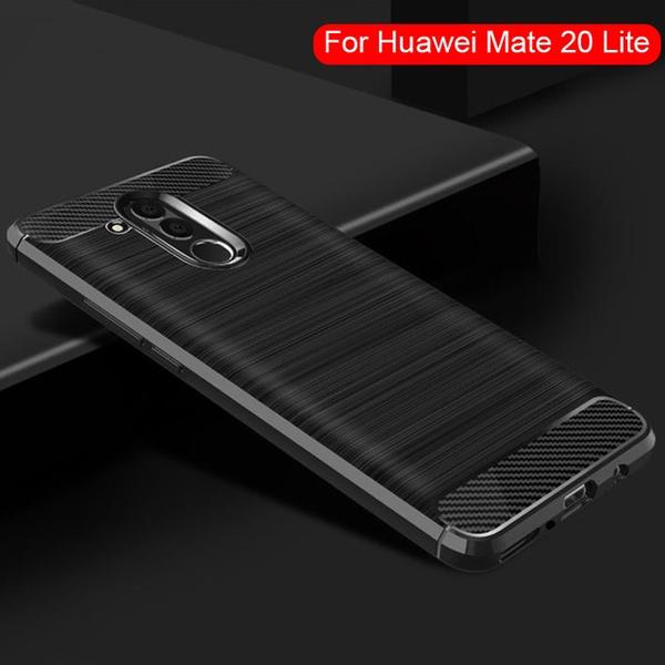 best cheap 306b1 640c6 For Huawei Mate 20 Lite Case,Carbon Fiber Soft Silicone Case for Huawei  Mate 20 Lite Mate 10 10 Pro P20 P20 Pro P20 Lite