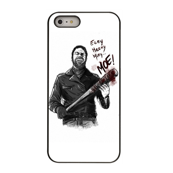 Designs The Walking Dead Eeny Miney Negan Mobile Cell Phone Covers Shells  Hard Plastic Cases for Apple iPhone 4/4S/5/5S/5C/6/6 Plus/6S/6S Plus/SE/7/7