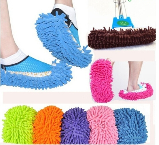 Lazy Mopping Shoe Floor Mopper Slipper Mop Cover Cleaner Cleaning Foot Sock Home