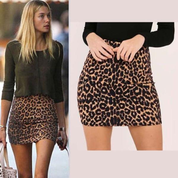leopardskirt, Mini, summer skirt, Waist
