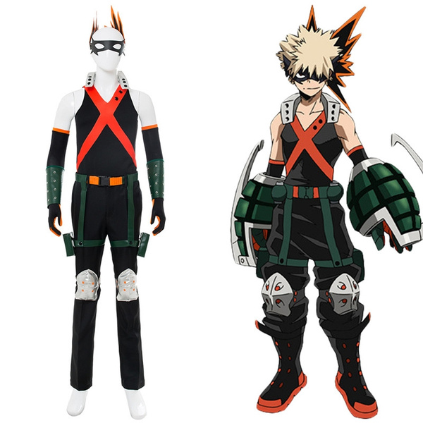 My Hero Academia Boku No Hero Akademia Katsuki Bakugou Battle Suit Cosplay Costume Wish