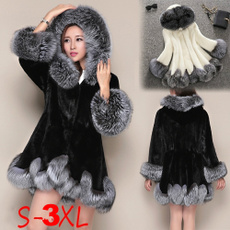 casual coat, fur coat, Fleece, hooded