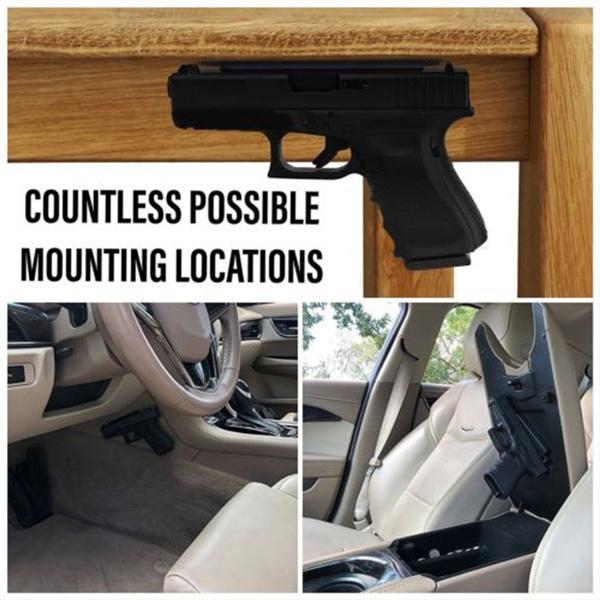 Magnetic Holster Gun Holder For Car Magnet Mount Concealed Pistol Under Desk