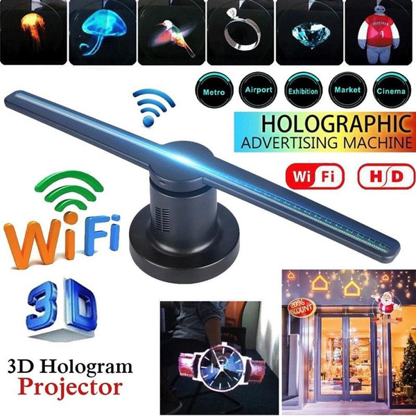 3D WIFI LED Holographic Projector Hologram Player Holographic Display Fan