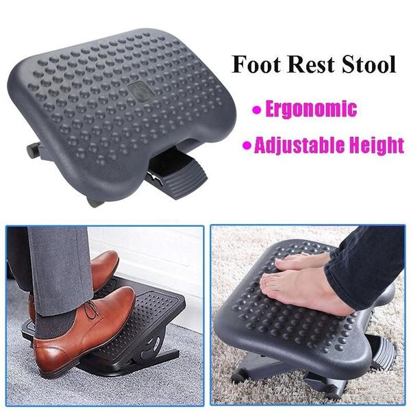 Brilliant Adjustable Height Foot Rest Stool Ergonomic Portable Comfortable Under Desk Home Office Dailytribune Chair Design For Home Dailytribuneorg