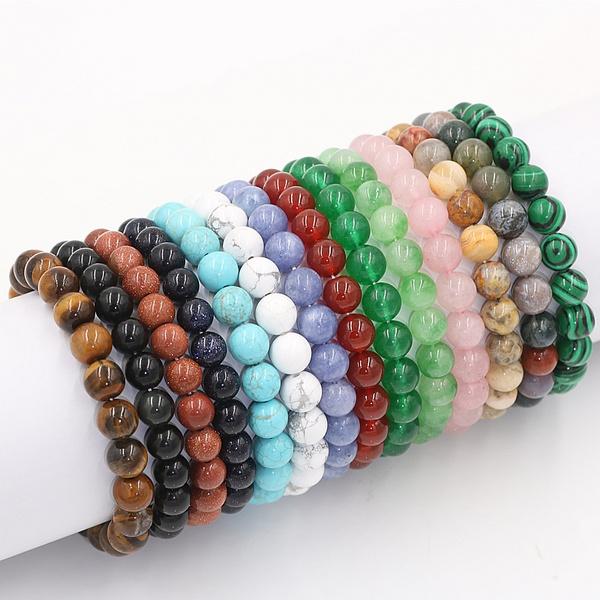 Crystal Bracelet, 8MM, eye, Jewelry