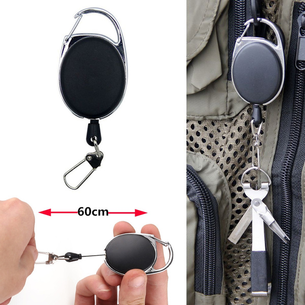 EDC Burglar Keychain Tactical Retractable Chain Telescopic Wire Rope Key Outdoor