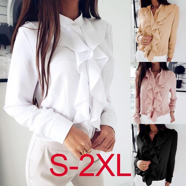 blouse, falbalaneckline, autumnblouse, Shirt