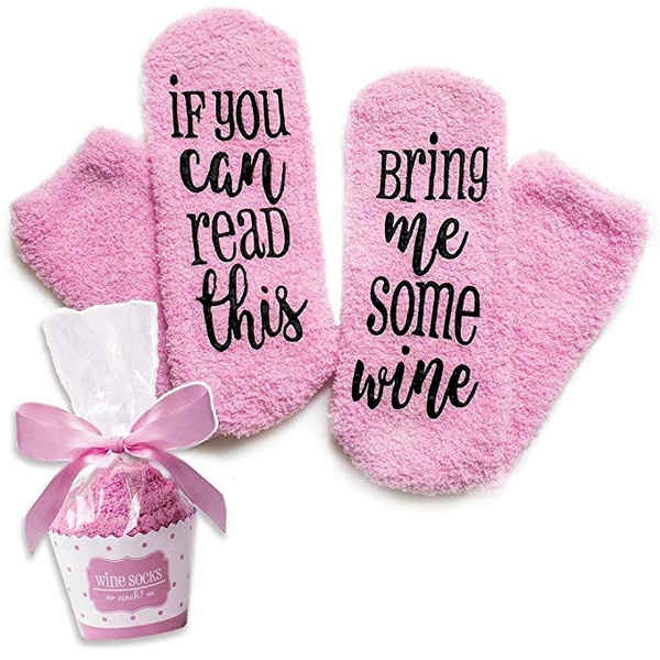 Cupcake PackagingBring Me Some Wines Novelty Socks Perfect For Birthday Gifts Women