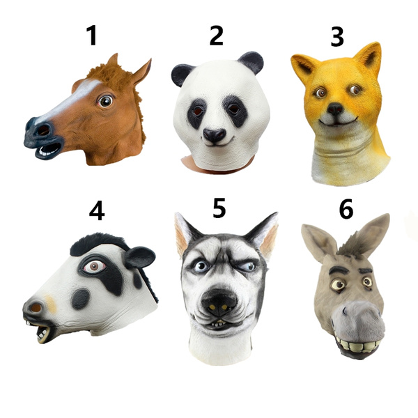 Halloween Mask Originality Animal Headgear Funny Latex Animal Mask  Masquerade Mask