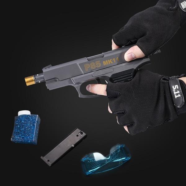 Outdoor CS Versus Water Gell Simulates Kids Cap Pistol Children's Safe  Peashooter Water projectile gun