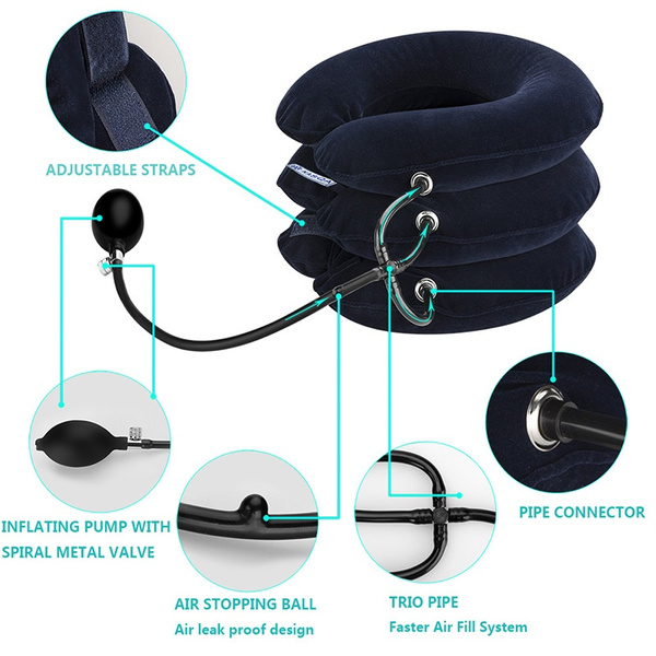 Inflatable Adjustable Cervical Neck Traction Device Effective Relief  Chronic Neck and Shoulder Pain Neck Pillow