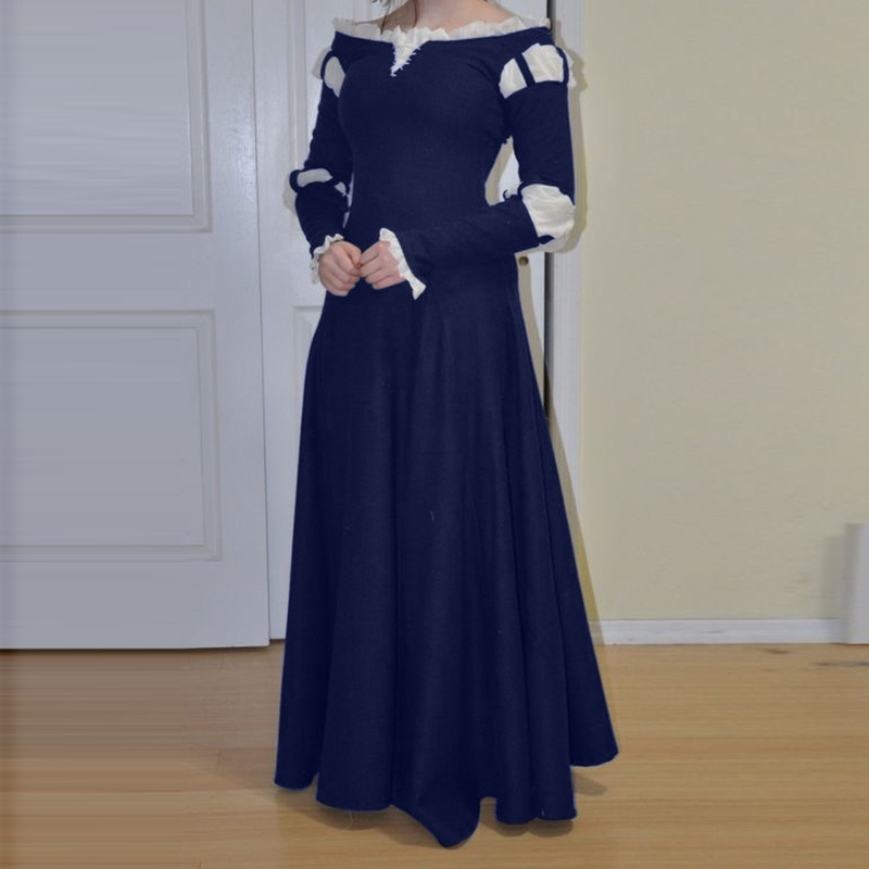 Retro Women Medieval Renaissance Party Princess Dress Gothic Cosplay Plus Size