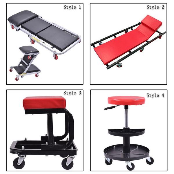 Rolling Seat Stool Chair Tray Repair Tools Shop Auto Car Garage Mechanic Creeper