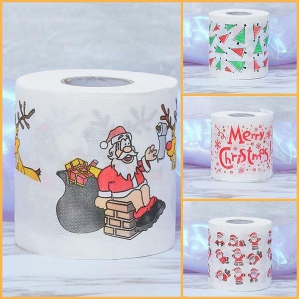 Decor, Christmas, santaclaustoiletpaper, Home & Living