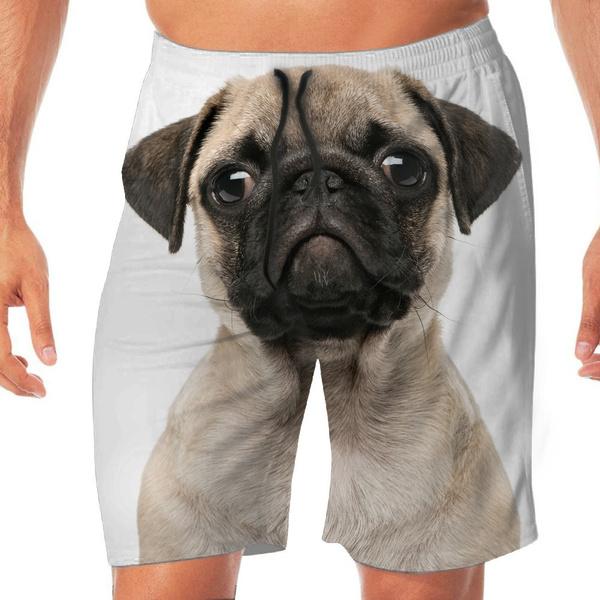 Pugs Dog Cute Men Beach Boardshorts