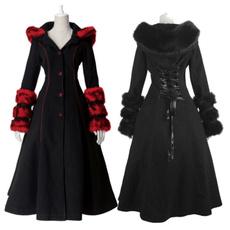 viking, fur coat, Goth, Fashion