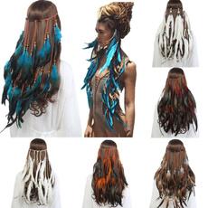 hair, Hairpieces, headdress, featherheadband