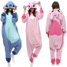 pink, women's pajamas, Cosplay, fleecesleepsuit