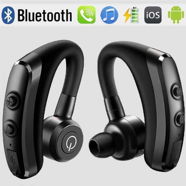 New Wireless Bluetooth Earphone With Mic Voice Control Stereo Noise Cancellation Handsfree Headphone Business Headset For Smart Phone Wish