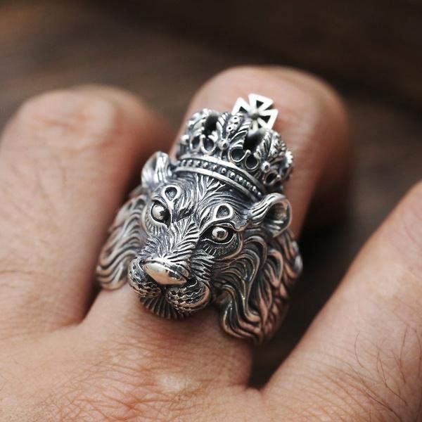 Finger Rings Mens 925 Sterling Silver