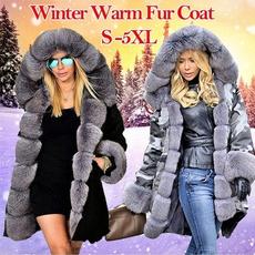 fur coat, hooded, fur, Coat