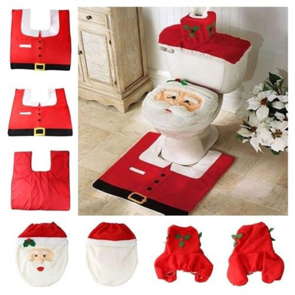 Bathroom Accessories, Christmas, toiletmat, toiletcarpet