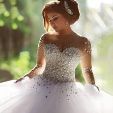 bridalweddingveil, Sleeve, Long Sleeve, Dress