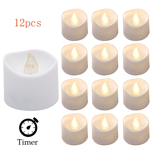 Hot Flameless LED Tealight Tea Candles Wedding Light Battery Lamp Creative Decor