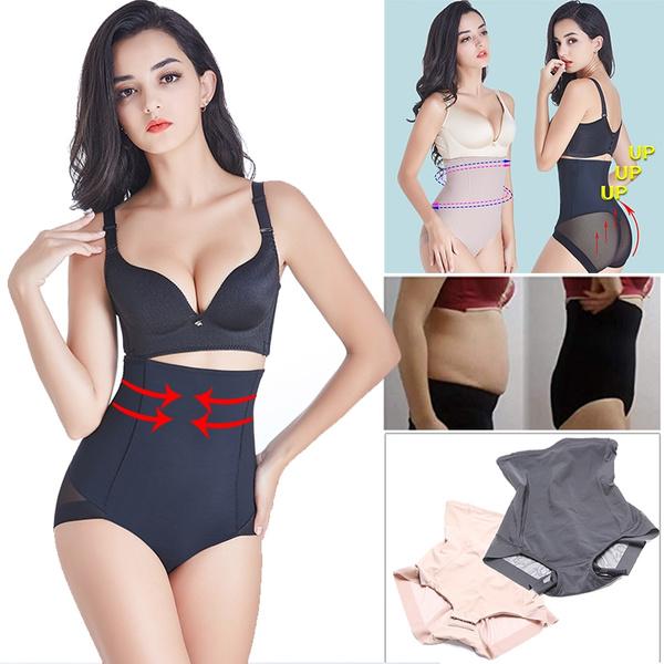 Damen Hohe Taille Bauchkontrolle Höschen Body Shaper Slip Shapewear Unterwäsche