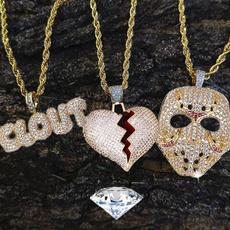 maskpendant, hip hop jewelry, Jewelry, gold