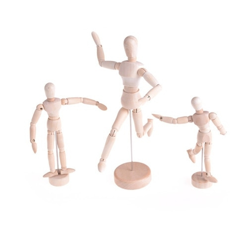 2018 New Arrival Drawing Model Wooden Human Male Manikin Jointed Mannequin  Puppet 1pcs