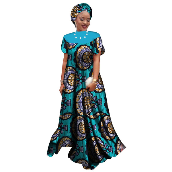 Casual Summer African Dresses Long Gown for Women Dashiki Dress Elegant  Party Dress Plus Size Traditional African Clothing WY2563